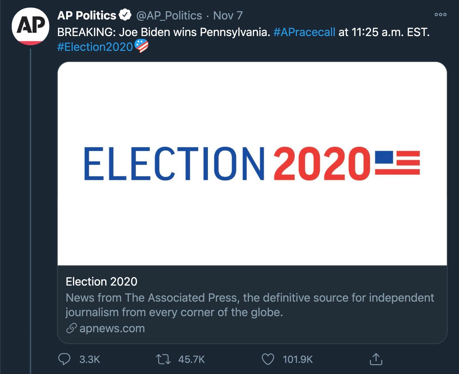 [https://twitter.com/AP_Politics/status/1325112441928359939](ap tweet)